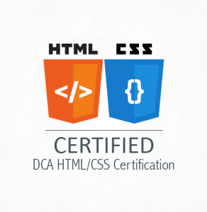 DCA HTML/CSS Certification