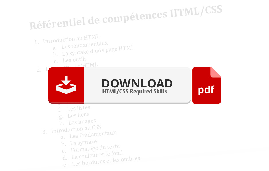 required skills HTML CSS